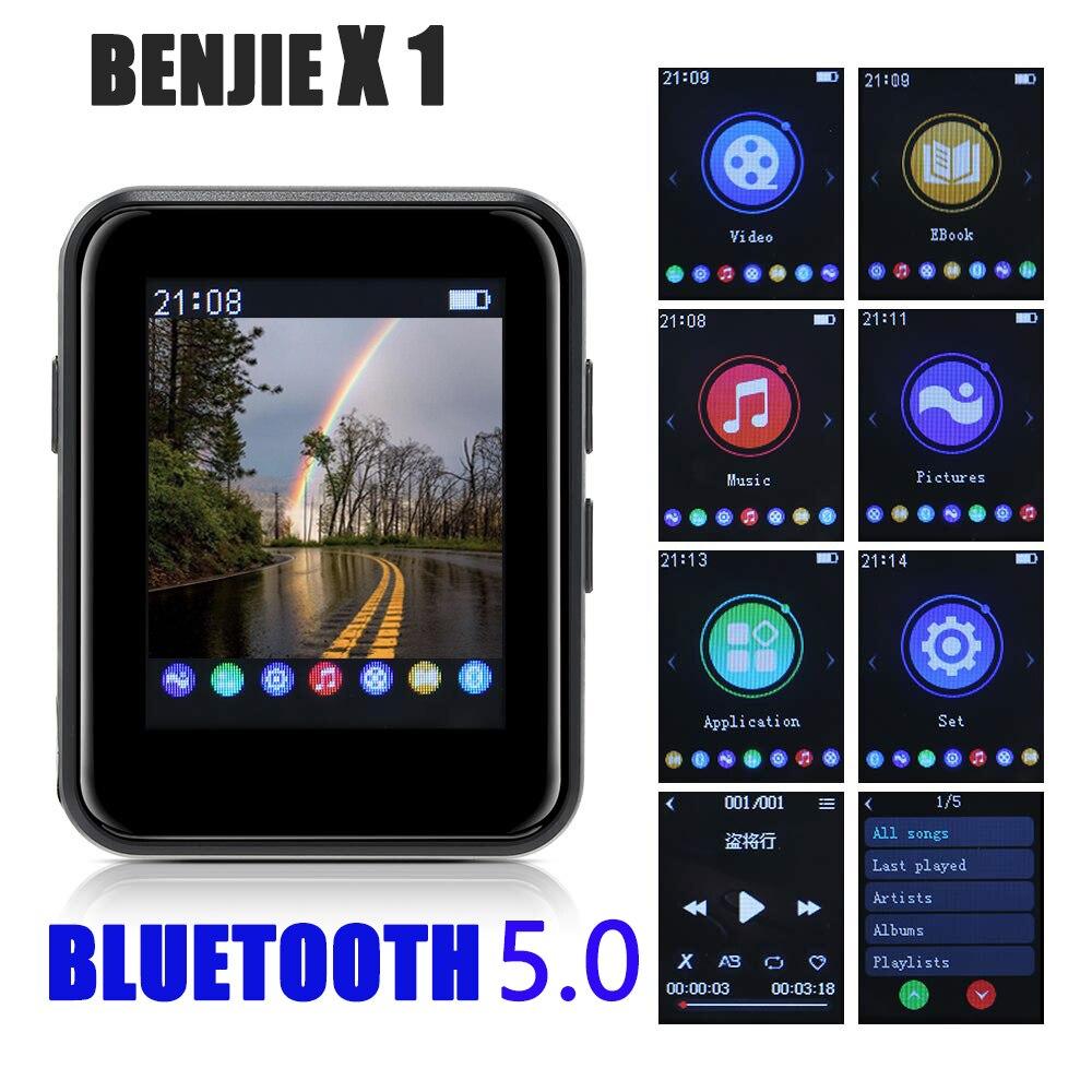 Мини Спортивный Портативный Bluetooth 5,0 MP3 плеер Металлический Задний зажим 1,8 дюймов HD экран Встроенный динамик высокое качество музыки