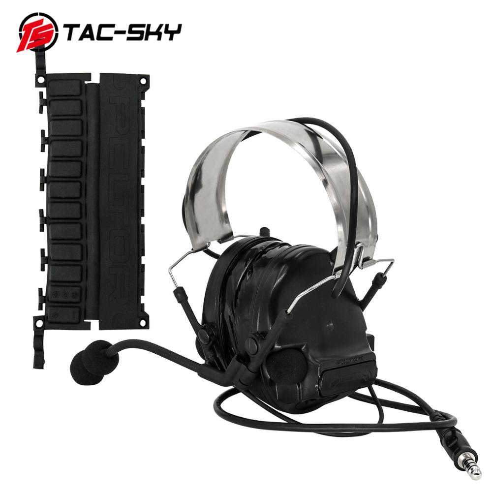 COMTAC III TAC-SKYcomtac iii silicone earmuffs noise reduction pickup air gun military shooting earmuffs tactical headset C3BK
