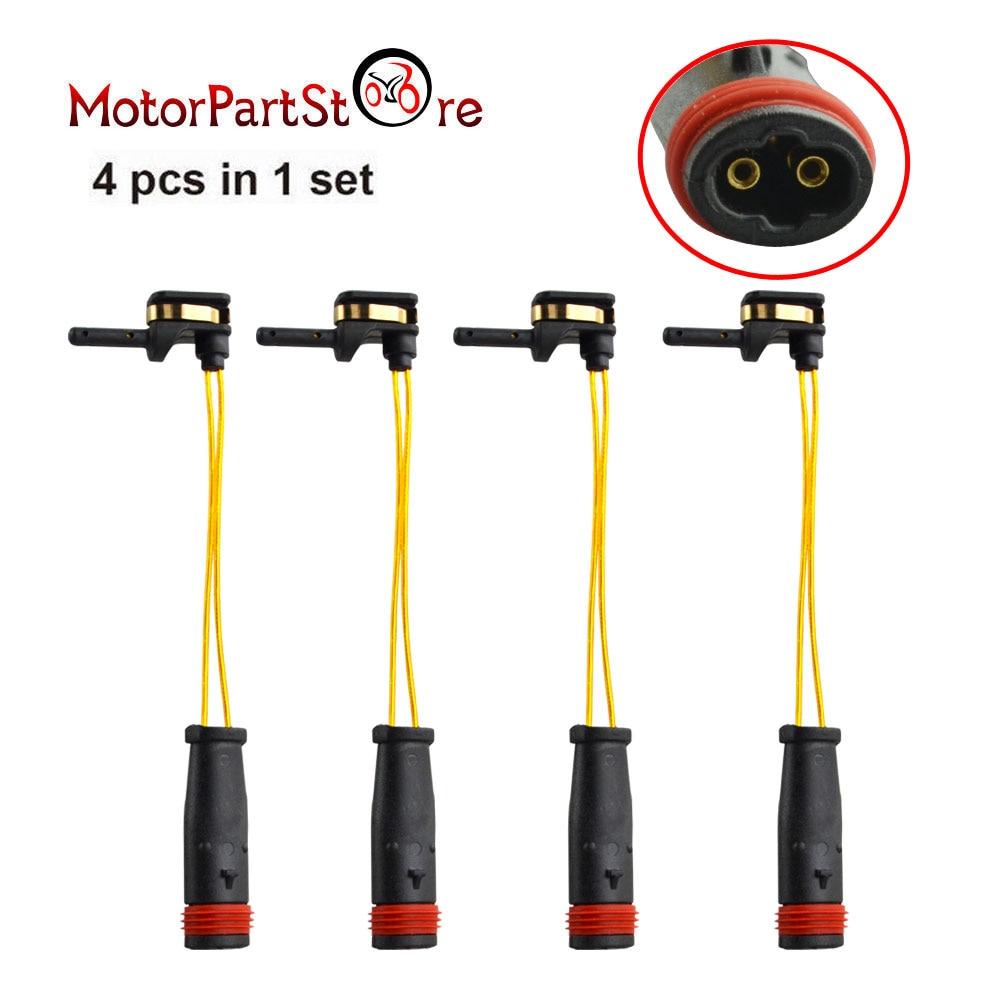 4 pçs dianteiro traseiro freio almofada wear sensor para mercedes benz w211 w220 2115401717 d20