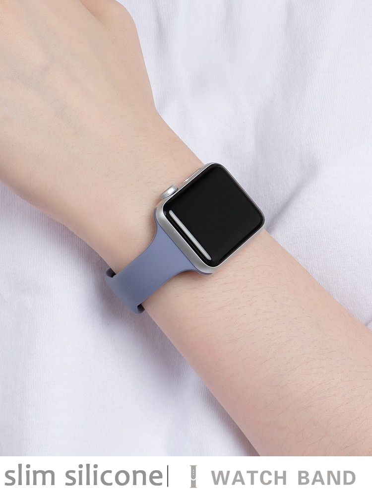 sport strap for apple watch band 44mm 40mm 42mm 38mm silicone bracelet smart wristband correa for iwatch series 6 5 4 3 2 1 se Slim Silicone strap for Apple watch band 40mm 38mm 42mm 44mm Sport watchband belt bracelet correa iWatch series 6 SE 5 4 3 strap