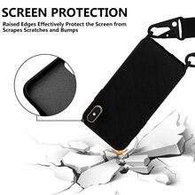 Exquis Téléphone Portable Bandoulière Collier Cordon Cordons Avec Corde Pour iphone 11Pro Max 11 Pro 6 6S 7 8 Plus X XR XS Couverture