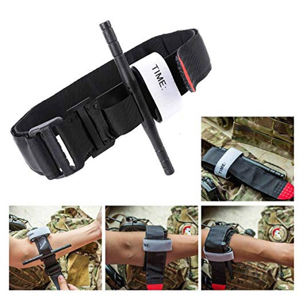 Primeiros socorros rápida liberação lenta fivela médica militar ao ar livre portátil emergência sos edc kit de sobrevivência torniquete cinta uma mão