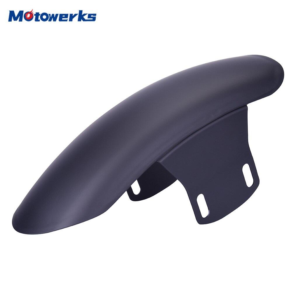 Motowerks universal retro preto fosco motocicleta paralama ultra curto frente fender para cafe racer gn125 costumes moto peças