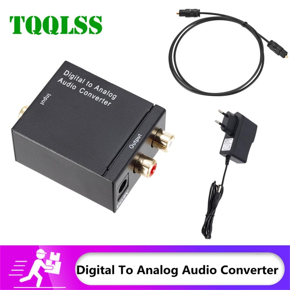 Digital to Analog Audio Converter Audio Optical Fiber Toslink Coaxial Signal to RCA R/L Audio Decoder SPDIF ATV DAC Amplifier