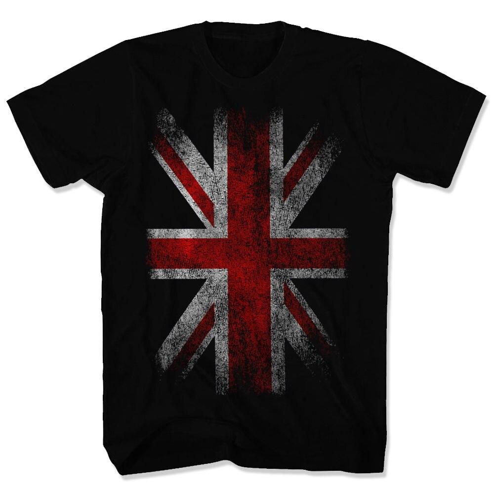 2017 mais recente Moda Inglaterra Camiseta Reino Unido Reino Unido Reino Unido Union Jack Da Bandeira Do Vintage Tops Camisetas Camisa de T Para homens 017792