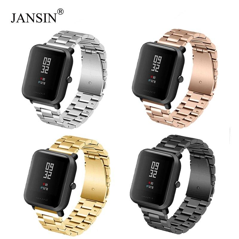 Ремешок JANSIN из нержавеющей стали для Xiaomi Huami Amazfit Bip BIT PACE Lite Youth/samsung galaxy watch 42 мм, браслет, ремешки для часов