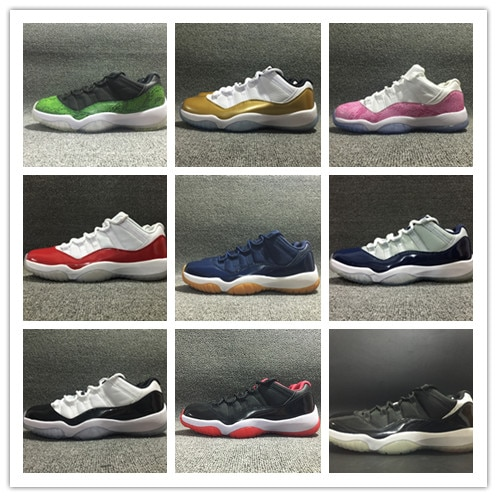 With box discount 11 Low Varsity Red 11s Navy gum blue Bred Georgetown Concord white men basketball shoes mens women sports snea