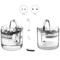 automatic cat water fountain with faucet dog water dispenser transparent drinkers for cats pet drinking bowl