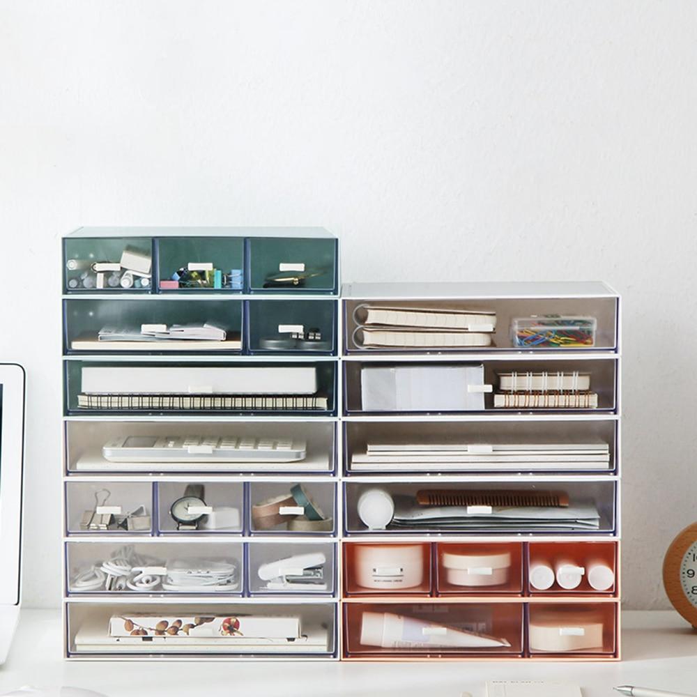صندوق تخزين بأدراج بلاستيكية ، متعدد الطبقات ، مستندات ، عناصر متنوعة ، صندوق مكياج ، خزانة مجوهرات صغيرة ، منظم ، حاويات