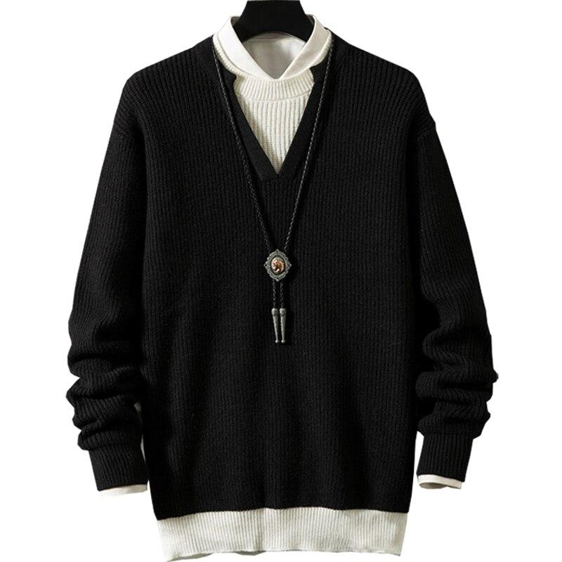 Jersey de talla grande, 6xl, 7xl, 8xl, 9xl, 10xl, suéter con cuello en V, Jersey de algodón para Otoño e Invierno para hombre, jersey para hombre