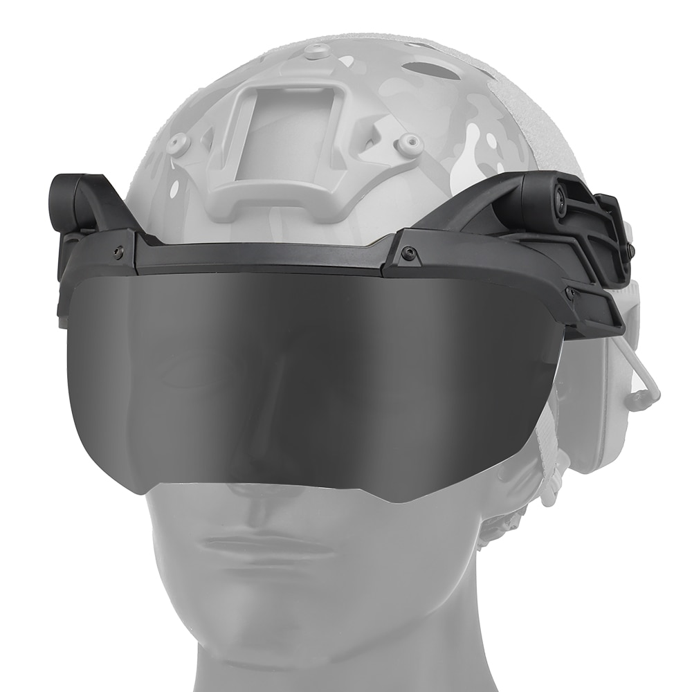 Tactical Rail Helmet Flip Goggles Airsoft Paintball Game Eyes Protection Gear Equipment For Fast Helmet Windproof Mask Goggles airsoft paintball tactical helmet protective fast helmet abs tactical mask with goggles cs equipment