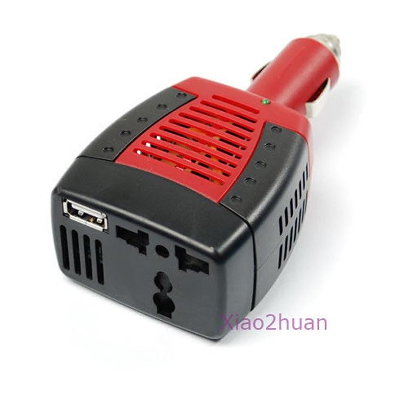 ¡Producto en oferta! ¡Nuevo! 1 Uds. De adaptador de corriente DC 12V a AC 220V 75W, USB 5V