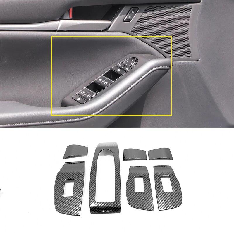 Couvercle de panneau de commande de porte de voiture   Acier inoxydable pour Mazda 3 Axela 2019 2020 accessoires vitre de voiture, verre de levage, interrupteur de commande, garniture de voiture
