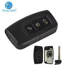 OkeyTech für Ford für Fokus Fiesta Mk7 Escape Kuga Auto Schlüssel Abdeckung Blank Smart Card Remote Key Keyless Entry Fob fall HU101Blade