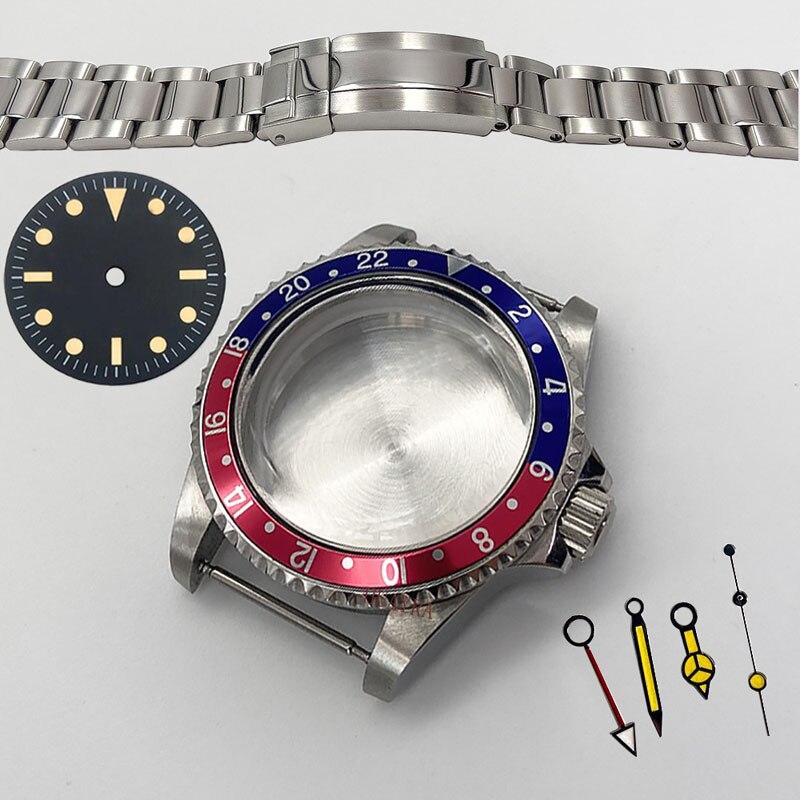 Conjunto de Cinto Mingzhu Movimento Case Aço Acrílico Vidro Alumínio Anel 316l Inoxidável Acessórios Relógio 3804 40mm