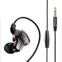 FDBRO HIFI Earbuds With Microphone 3.5mm Wired Bass Ear Hook Earphones Noise Cancelling  D5 Pro Running Sport In-Ear Headset