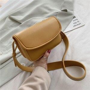2020 PU Leather Crossbody Bags for Women Sac A Main Femme Luxury Handbags Women Designer Bag Solid Color Vintage Shoulder Bag