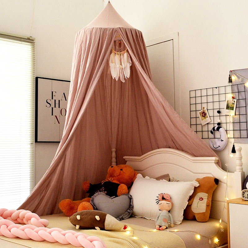 Mosquito Net for Baby Bed Curtain Crib Netting Baby Tent Cotton Hanging Canopy Dome Baby Mosquito Net Children Room Decoration