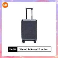 Xiaomi 20 дюймов Портативный бизнес стандарт чемодан багажный ПК материал SA двойной кодовый замок чемоданы для деловых поездок 360 ° Универсальный колеса