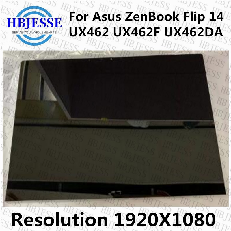 Portátil com Montagem da Tela de Toque 1920×1080 para Asus Zenbook Flip Ux462da Painel Lcd 14 Fhd Ux462