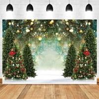 yeele christmas photography backdrop photocall winter tree ball baby portrait party decor background photo studio photographic