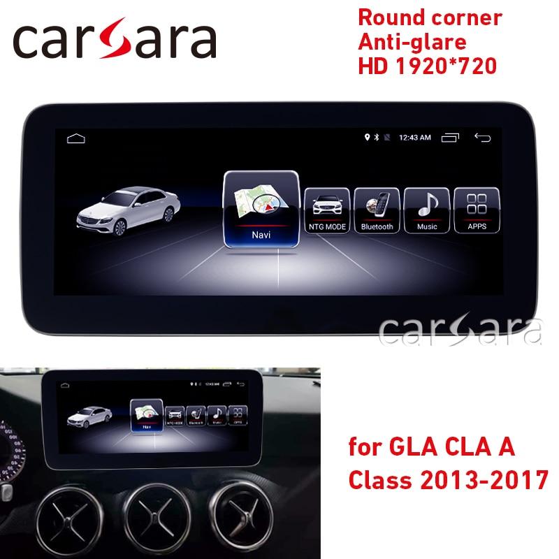 Android radio w176 pantalla táctil de la CIA w117 GPS navi GLA X156 esquina redonda anti-glare HD 1920*720 pantalla dash reproductor multimedia