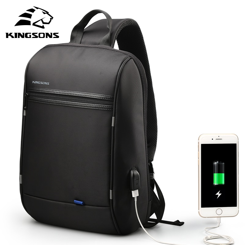 Kingsons 13 inch Waterproof Single Shoulder Laptop Backpack for Men and Women Daily Using for teenag