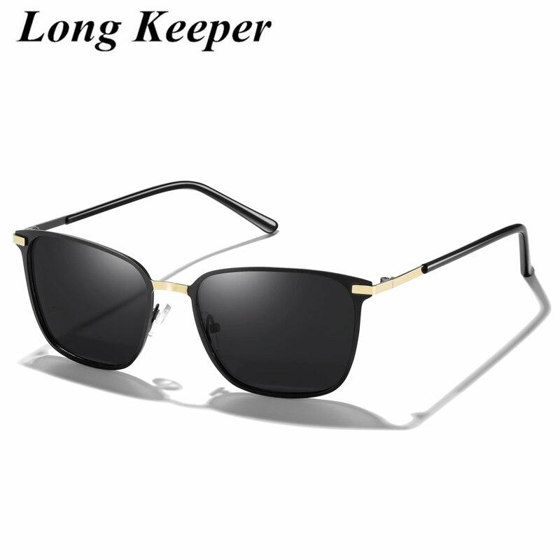 Новинка 2020 поляризованные солнцезащитные очки мужские зеркальные очки для вождения Черные Квадратные Солнцезащитные очки Мужские крутые ...