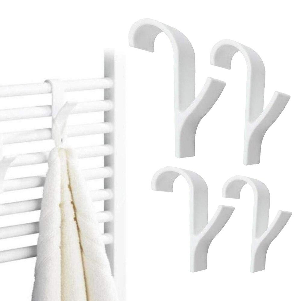 Percha para calentador de toallas radiador carril baño gancho titular Percha Plegable bufanda Percha ropa Percha blanca