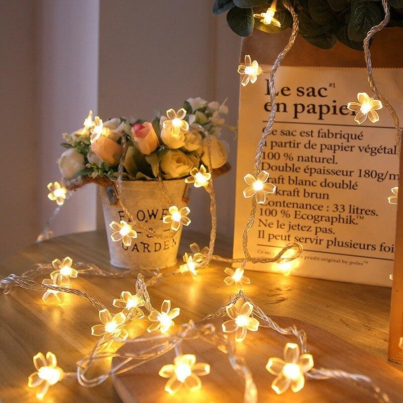 Светодиодная уличная гирлянда светильник свет сакуры, световая гирлянда, рождественсветильник светодиодная гирлянда, домашний декор, свет...