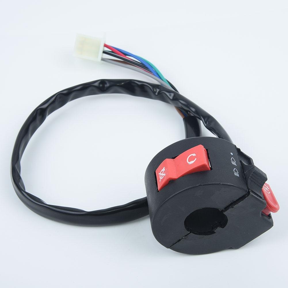 "Para Coolster Quad 7/8 ""manillar interruptor de inicio 1 reemplazo para PC accesorio para Kazuma Taotao Kill Light 50cc 70cc"