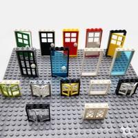 Кубики MOC: дом, двери, окна, запчасти, город, друзья, строительные блоки, совместимые со всеми брендами, сборные игрушки для детей, конструктор