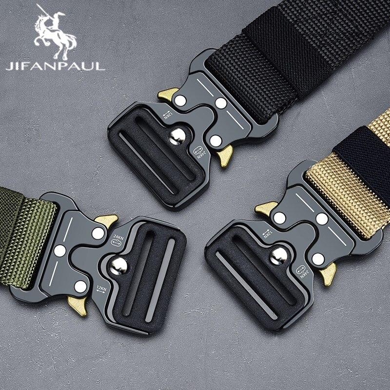 JIFANPAUL Belt Male Tactical military Canvas Outdoor mens Military Nylon Belts Army belt men