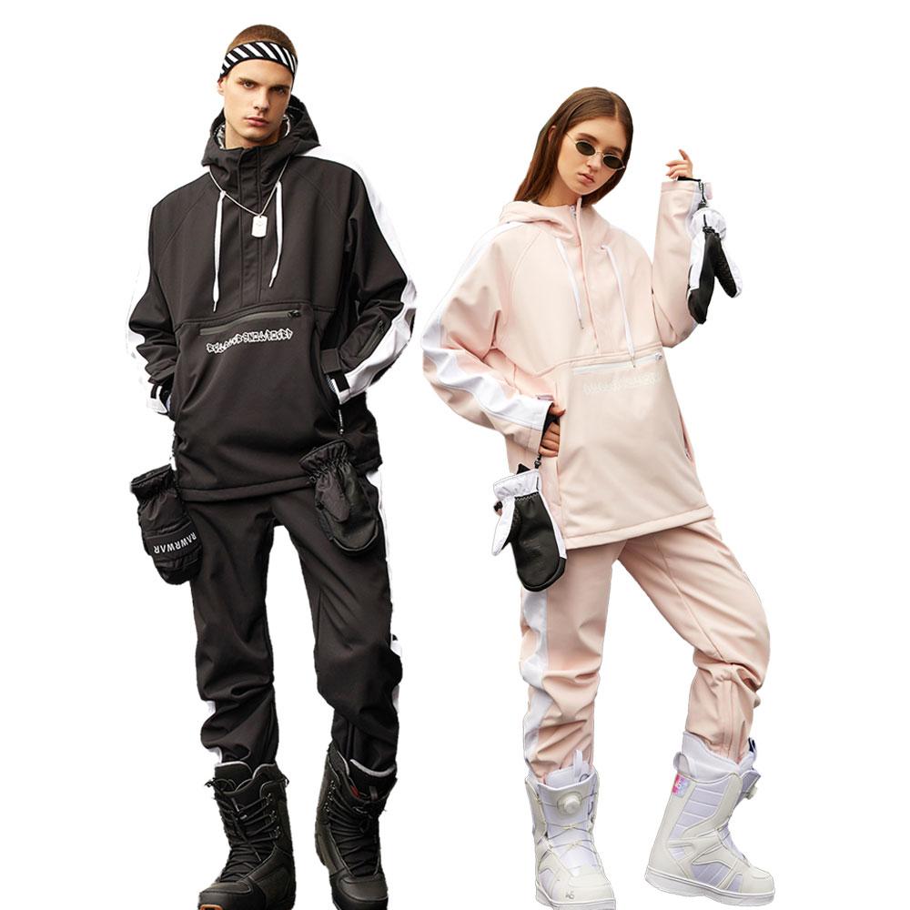 2020 Зимние новые мужские и женские лыжные костюмы модные розовые водонепроницаемые теплые холодные носки уличные сноубордические лыжные ку...