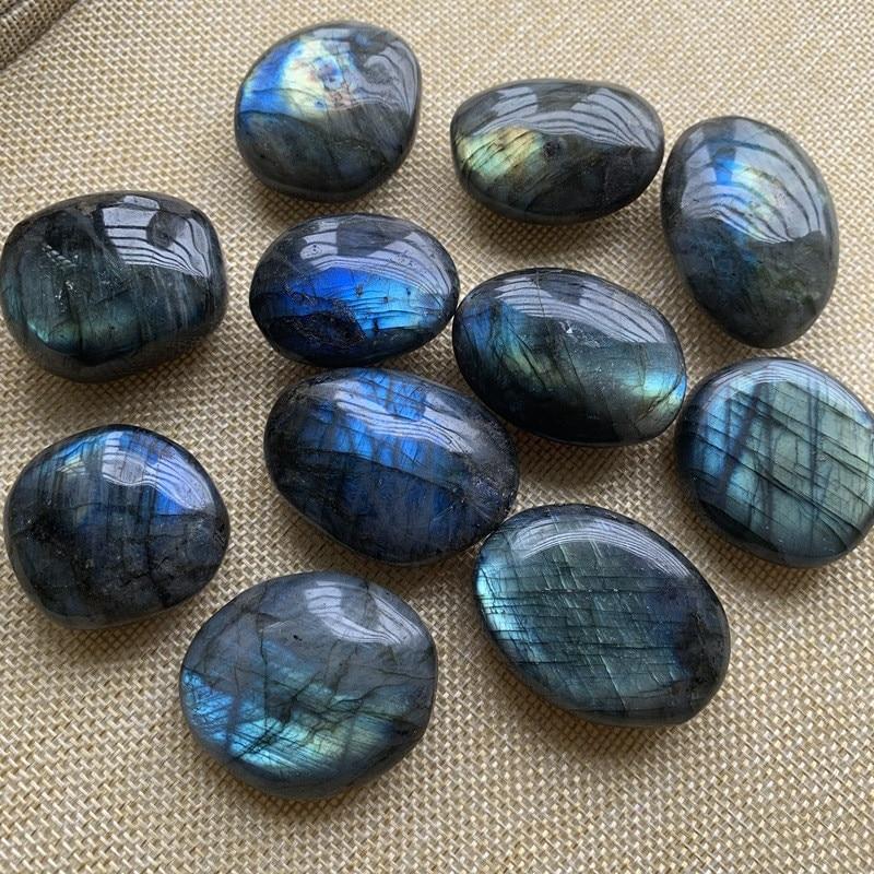 1pc Natural Blue Color Genuine Labradorite Original Moonstone Stones Ornament Send Random dropship