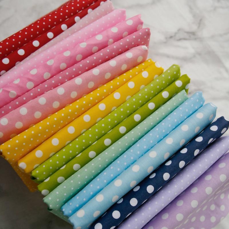 Tela de algodón de sarga de punto redondo de caramelo de 160x50cm que hace la ropa de los niños Material de la ropa tela para fondo de foto