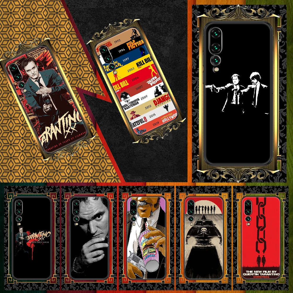 written-directed-quentin-tarantino-phone-case-for-huawei-p-mate-p10-p20-p30-p40-10-20-smart-z-pro-lite-2019-black-fashion-back