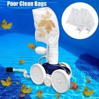12 pcs pool clean bags for polaris 280 480 all purpose replacement zipper bag vacuum cleaner accessories spa pond tools
