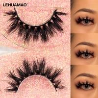 lehuamao mink eyelashes 5d false eyelashes depth volume natural mink lash thin band hand craft lashes makeup reusable unique k03
