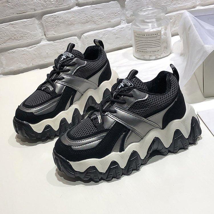 ربيع جديد نموذج أحذية INS صافي الأحمر أحذية صحية للأطفال منصة العصرية الكورية نمط طالب الأحذية العصرية