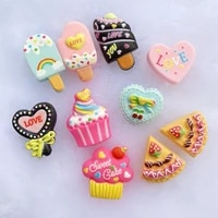 40pcslot kawaii mini ice creamcake resin flat back scrapbooking hair bow center embellishments diy accessories d75