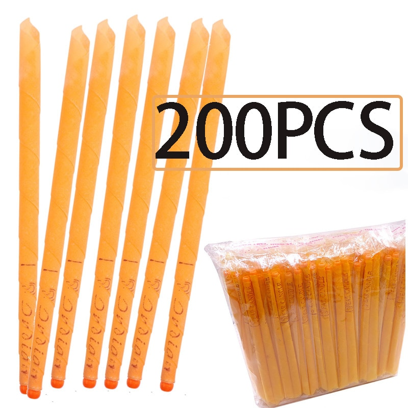 10-200pcs Ear Candle Wax Removal Tool Ear Cleaner Ear Candle Beeswax Good Product Hopi Ear Wax India