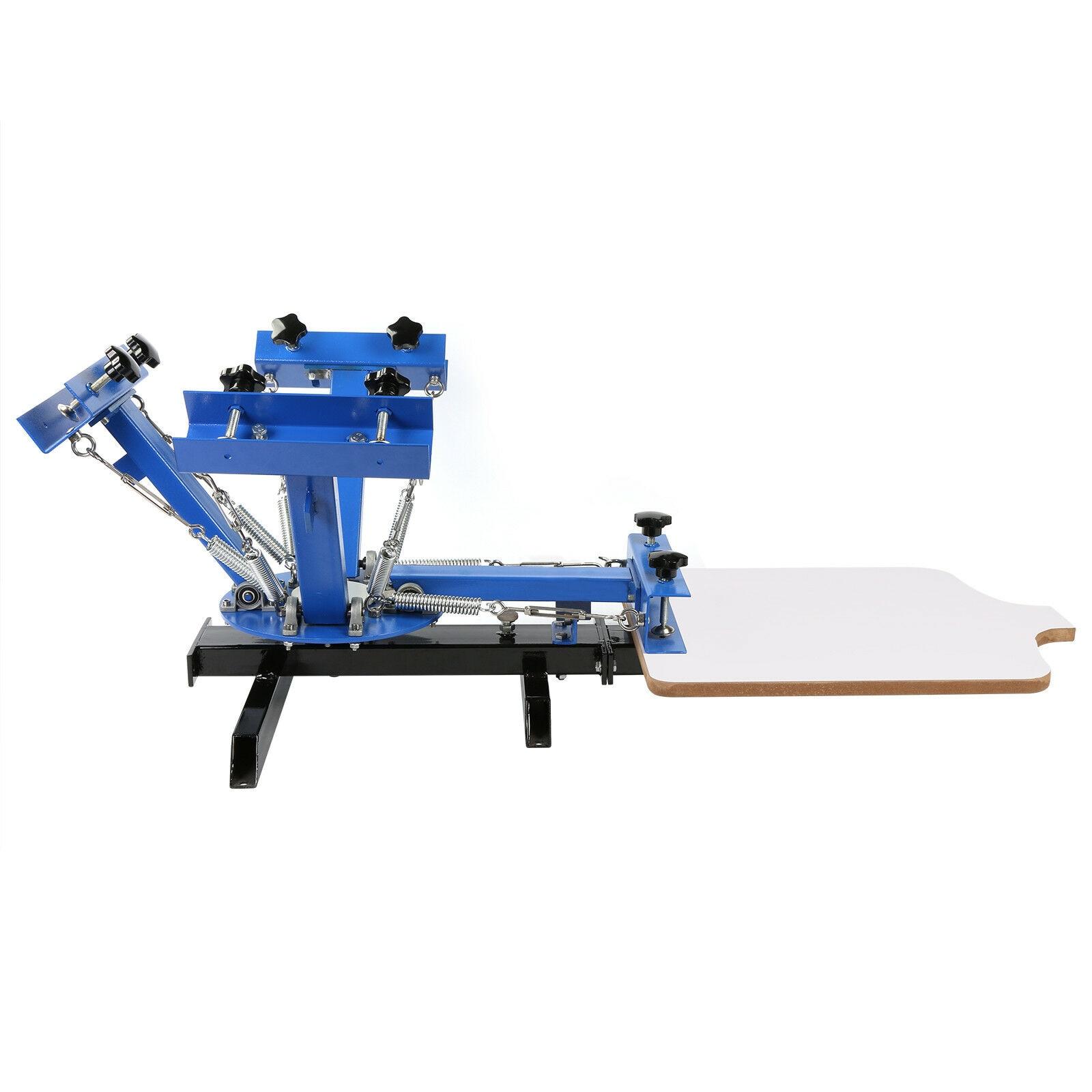 Screen Printing Machine 4 Color 1 Station Silk Screen Printing Press For T-Shirt DIY Printing With Removable Pallet enlarge