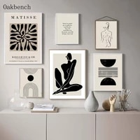 matisse abstract wall art painting coral poster line woman posters and prints geometry wall pictures for living room decor