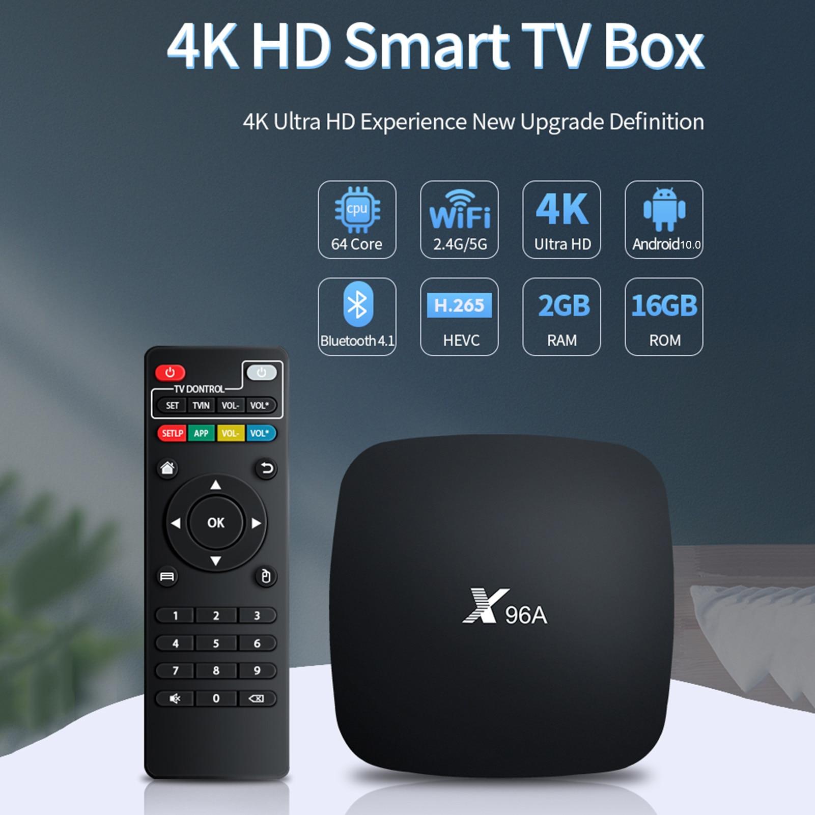 Dispositivo de TV inteligente X96, decodificador con Android 10,0, 2,4 GHz, 5GHz,...