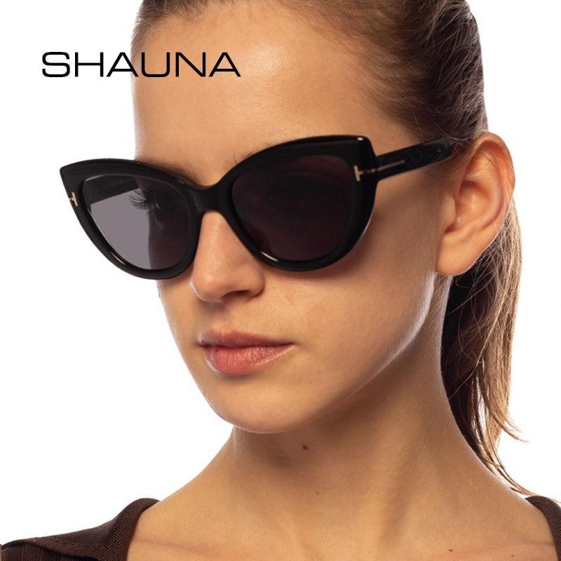 SHAUNA Vintage Cat Eye Sunglasses Women Brand Designer Fashion Anti-Blue Light Optical Frames