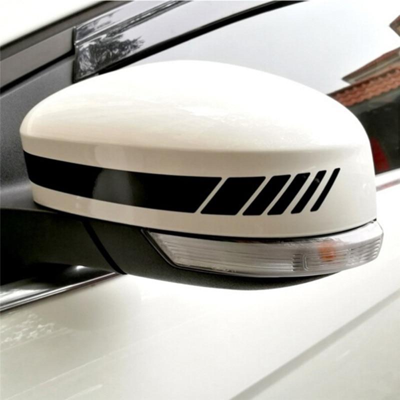 1Pcs 20*2cm Car Stickers Reflective Vinyl Rearview Mirror Decals DIY Exterior Accessories