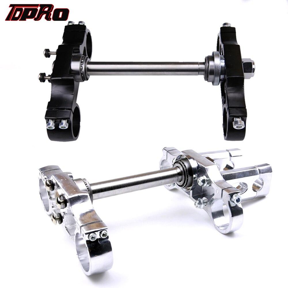 TDPRO держатель для руля 22 мм с тройным зажимом, подходит для Honda 45/48 мм, передние вилки с переворачиванием, 125 куб. См, 140 куб. См, 150 куб. См, 160 куб.