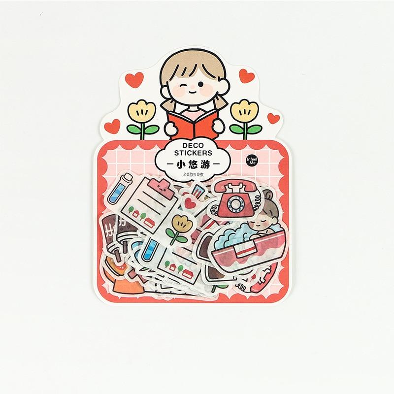 20 set/1 lot Cartoon girl Memo Pad Sticky Notes Escolar Papelaria School Supply Bookmark notepad Label