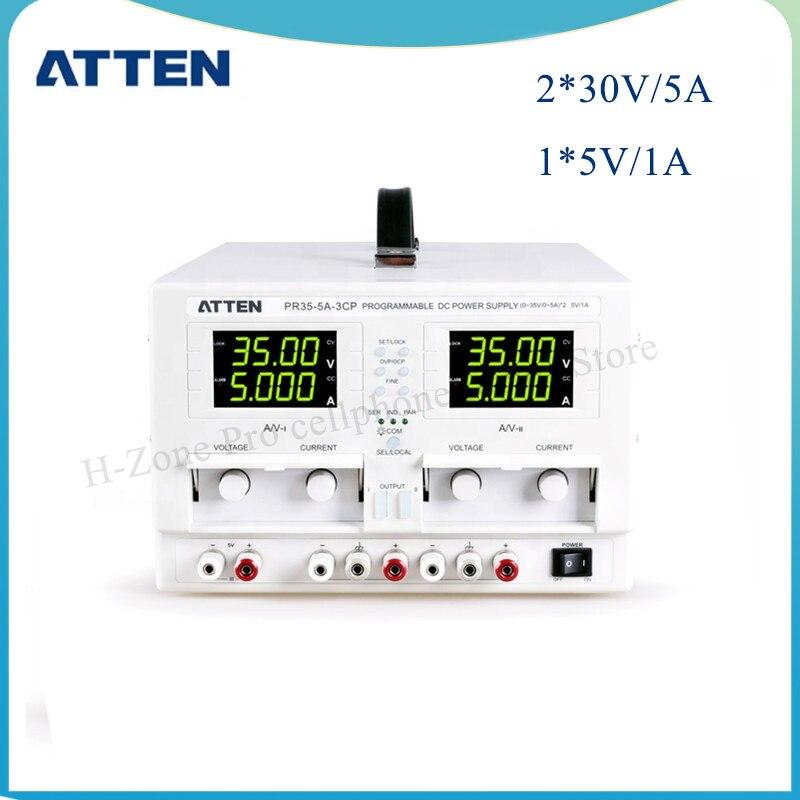 Лабораторный источник питания постоянного тока ATTEN PR35-5A-3CP 0-5A 355W цифры displayThree Channels Высокая точность программируемый